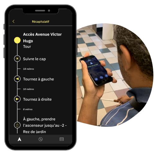 Application Evelity par Okeenea Digital  guidage handicap